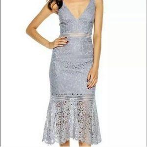 Stunning Blue Bardot Dress